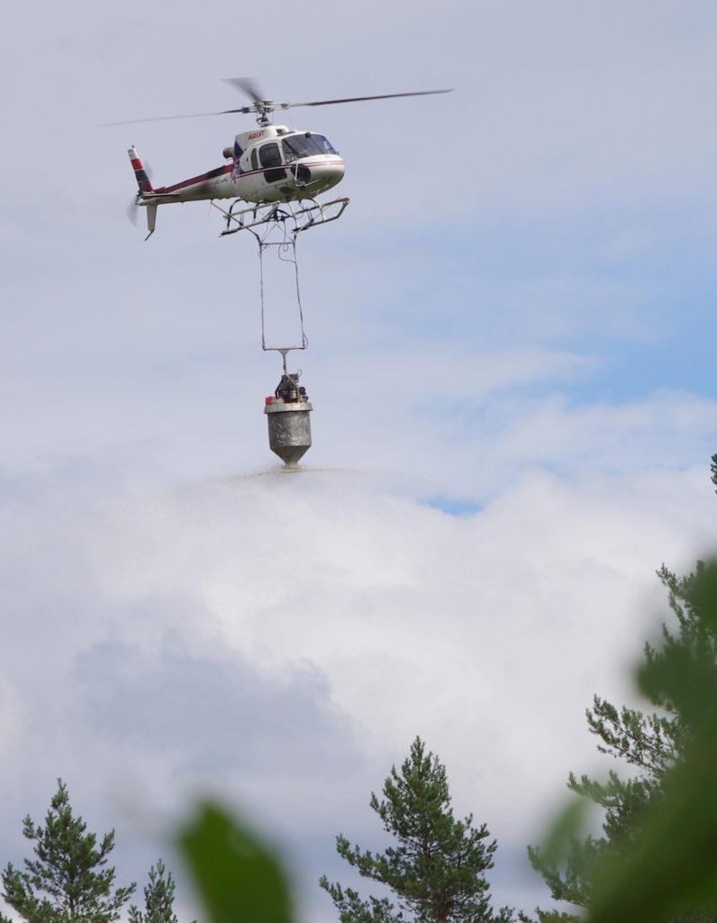 Gjødsling med helikopter