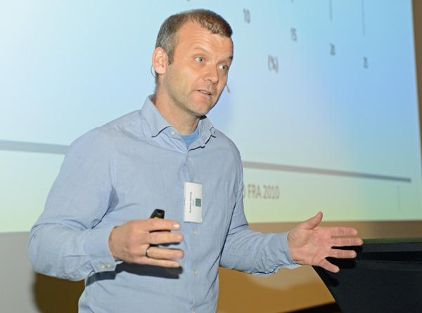 Forsker Rasmus Astrup gikk gjennom status for norsk skogvern i et internasjonalt perspektiv.