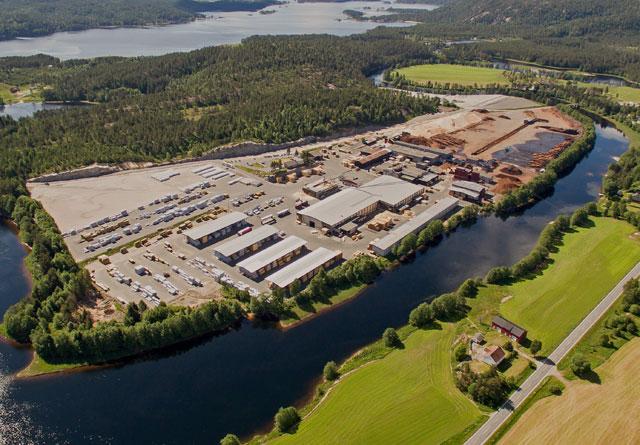 Biozin vil bygge sin fabrikk for produksjon av bioråolje på nabotomten til Bergene Holm sitt sagbruk Nidarå på Jordøya i Åmli.