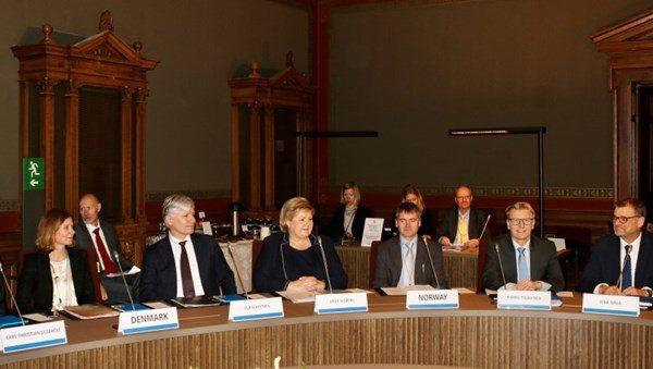 Nordiske stats- og klimaministre på møte i Helsinki 25 januar 2019. Foto: Marita Isaksen Wangberg