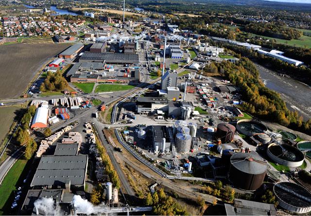 Borregaards fabrikk i Sarpsborg.