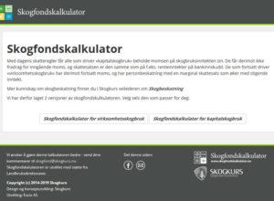 Skogfondskalkulator for kapitalbeskattet skogeiere