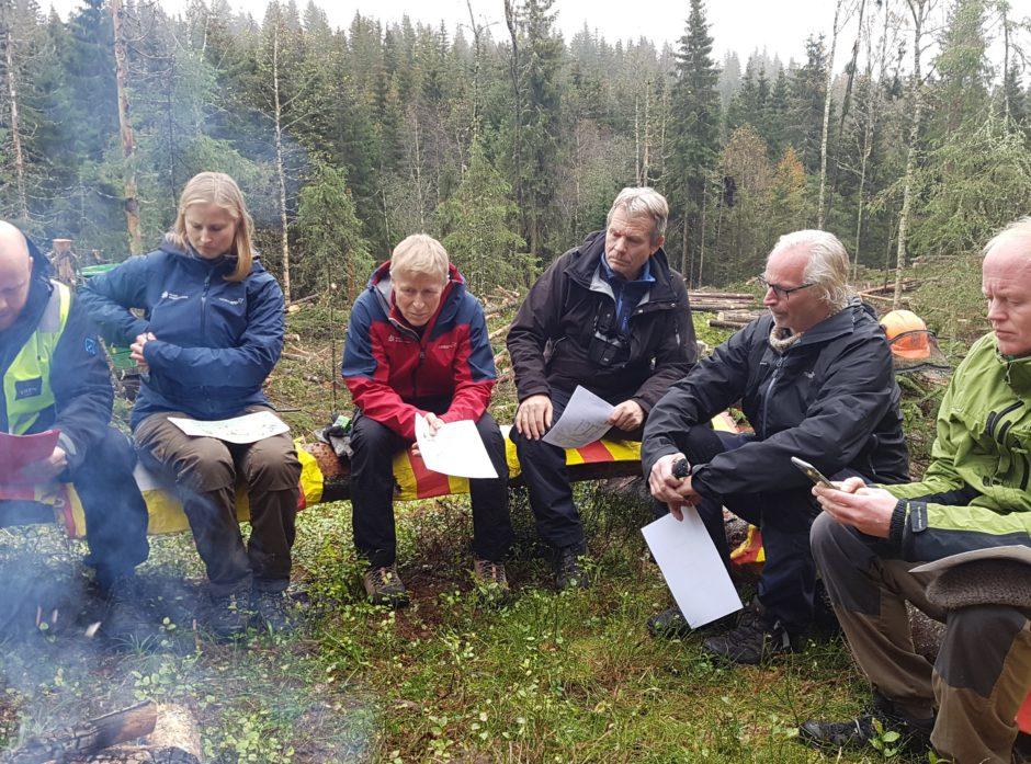 Fra venstre: Hans Asbjørn Sørlie, Ingeborg Anker-Rasch, Per Skorge, Arne Nævra, Nils Bøhn og Lars Haltbrekken. Foto: Ellen Alfsen