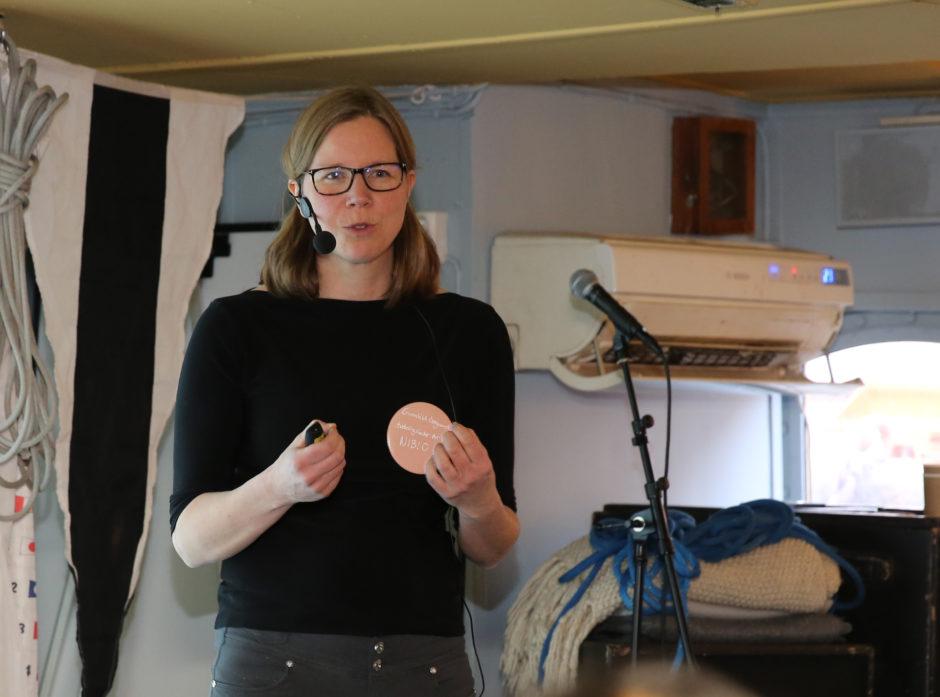 Gunnhild Søgaard fra NIBIO snakket om den norske skogens rolle som karbonbinder.