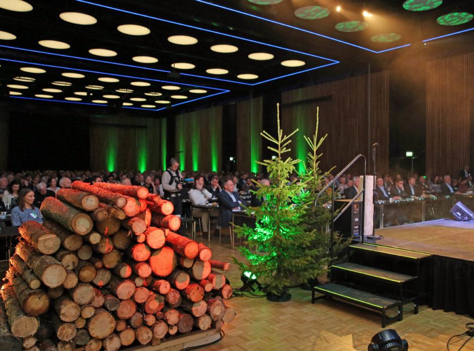 Fra konferansen Tømmer & Marked med rekordmange 550 deltagere.