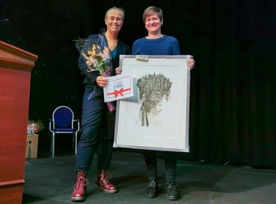 Fra venstre daglig leder Kvinner i Skogbruket Britt Godtlund og leder i Fagforbundet Innlandet Helene Skeibrok.